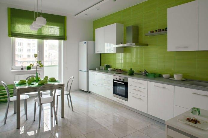 Белый кухонный гарнитур: особенности выбора, сочетания, 70 фото в интерьере - 25