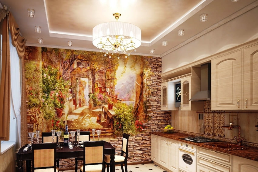Дизайн стен кухни картинки