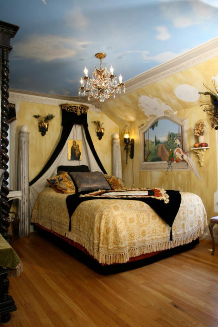 фреска в спальне