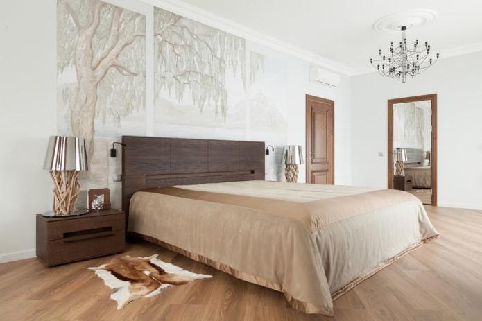 коричневые двери в спальне
