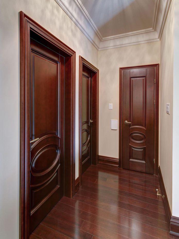 темно-коричневые межкомнатные двери
