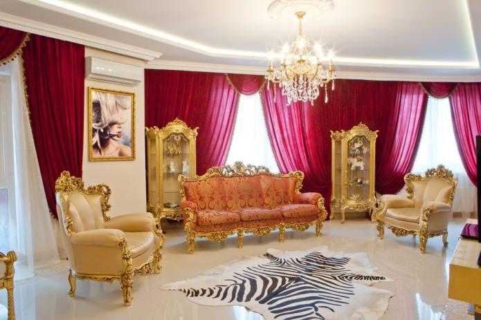 мебель на золотых ножках