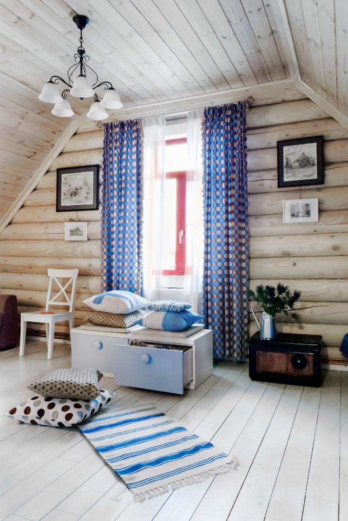 текстиль в дачном интерьере