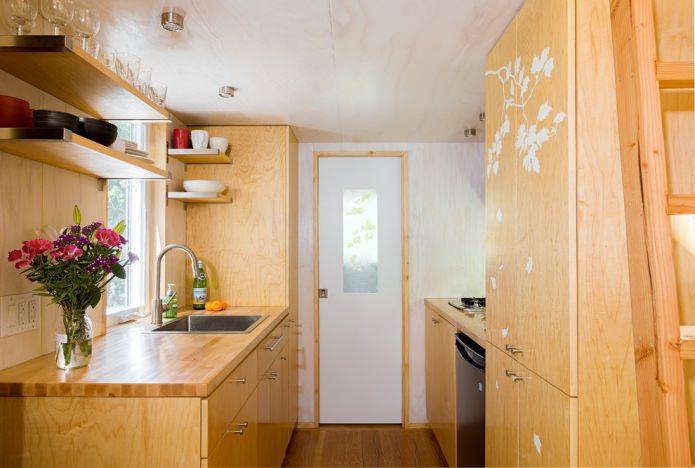кухня в дачном домике эконом класса