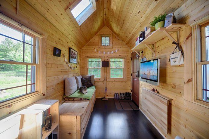 интерьер небольшого дачного домика