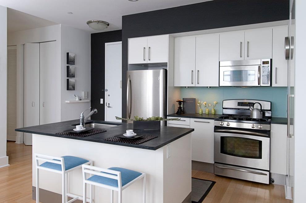 Как подобрать цвет кухни черный