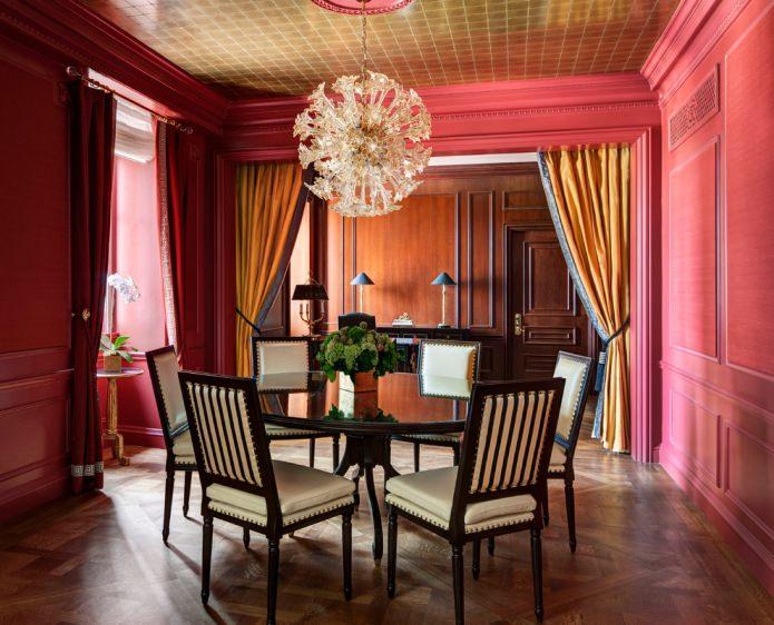 Оформление интерьера в красном цвете: 80 избранных фото и идей