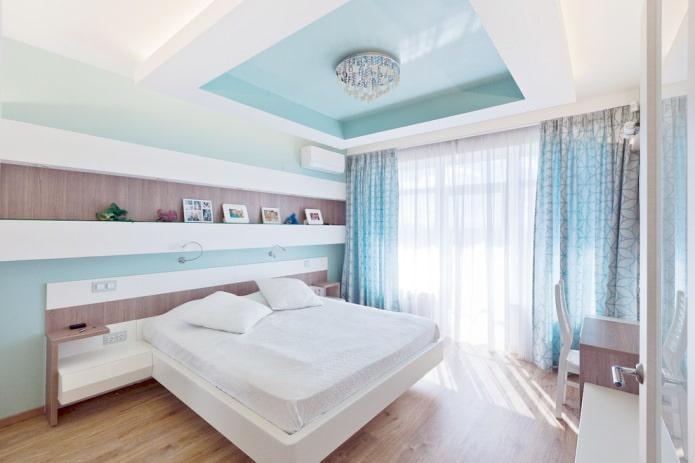 портьеры и тюль в спальне