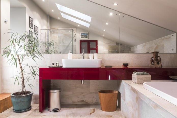 отделка односкатной крыши ванной
