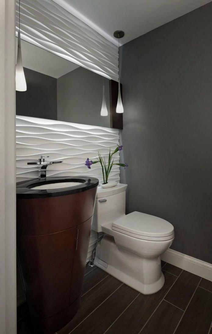 Плитка на полу в туалете