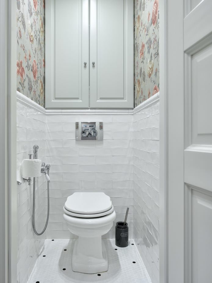 Интерьер туалета в стиле прованс