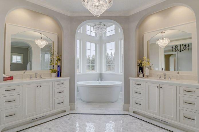 Ванная в американском стиле в доме