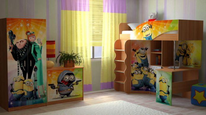 миньоны в детской комнате