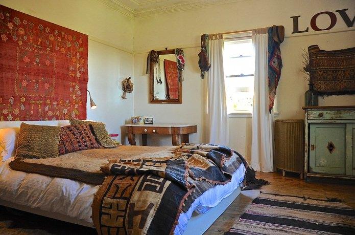 декор спальни в стиле бохо