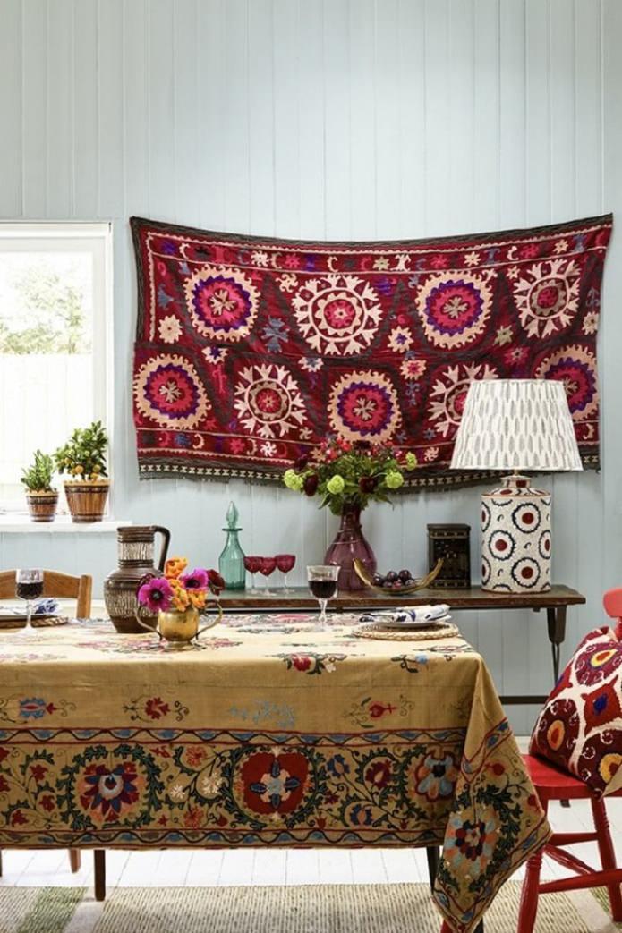 текстиль в бохо стиле