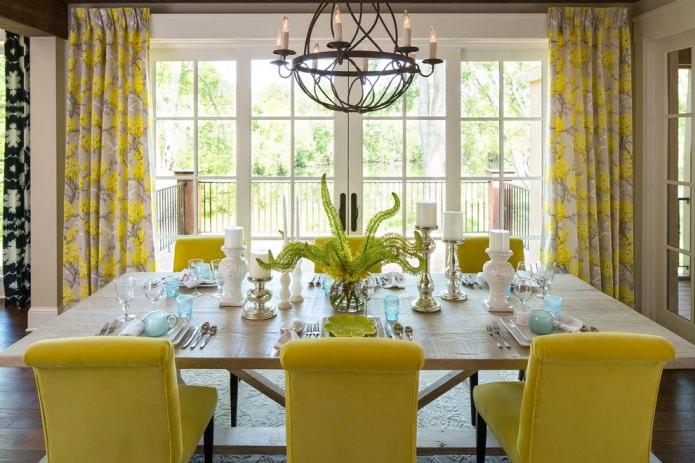 стулья в желтом цвете
