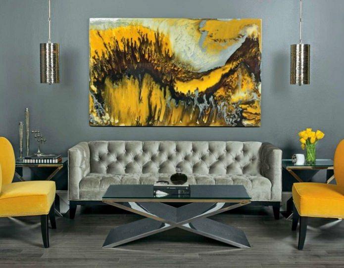 Картины в желтых красках