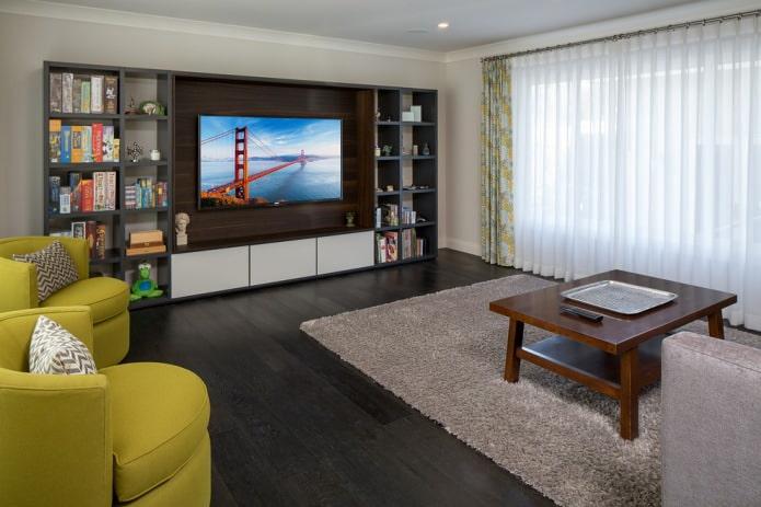 Современный стиль в гостиной