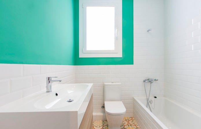бело-мятная ванная
