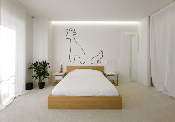 белая комната в стиле минимализм