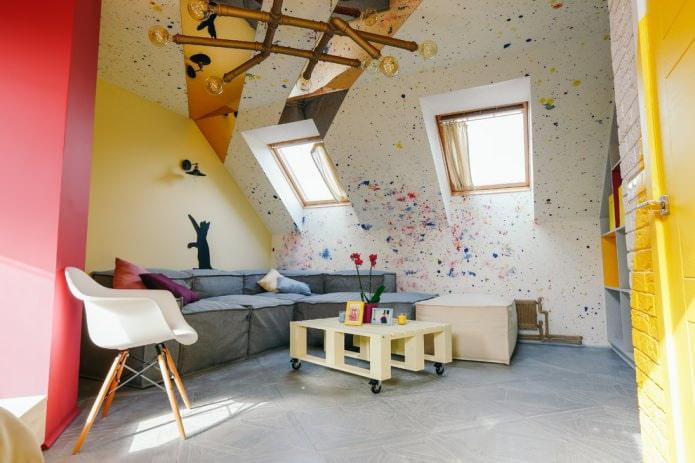 разноцветные окрашенные стены