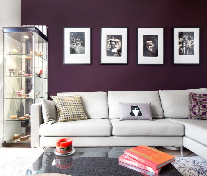 фиолетовая покраска стен