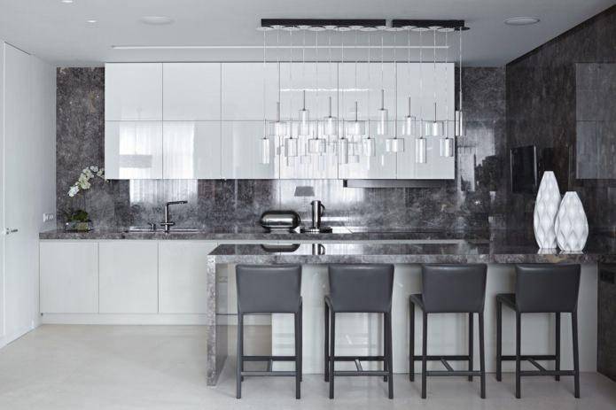Панели на стене в кухне