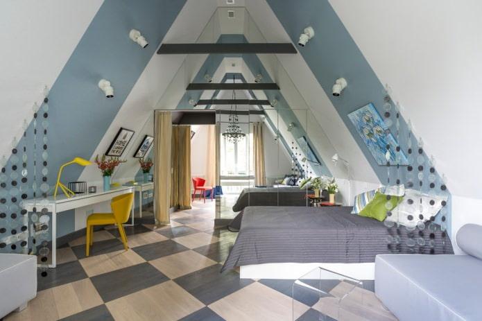 спальня для подростка в современном стиле