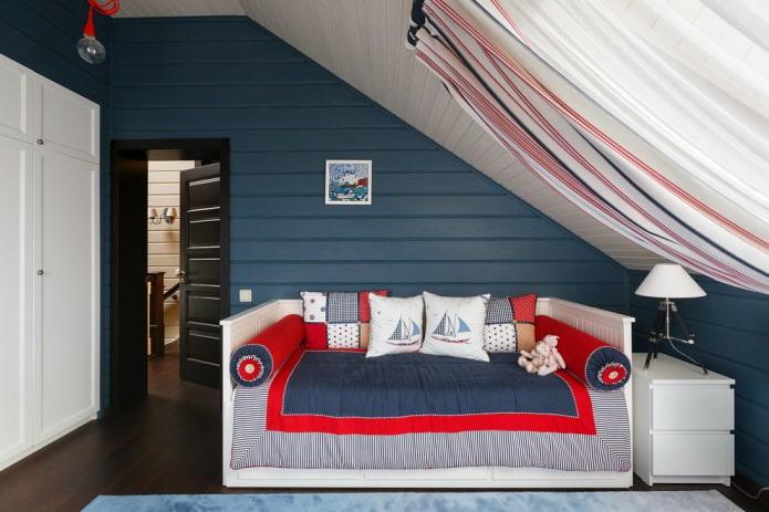 спальня для мальчика в морском стиле