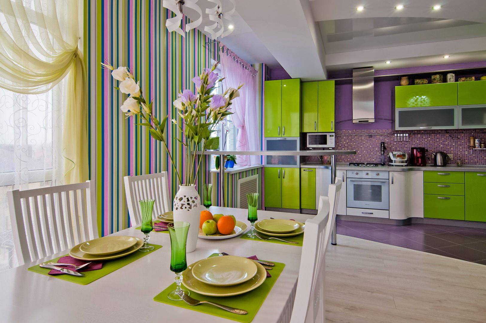 Кухня в ярких тонах дизайн фото