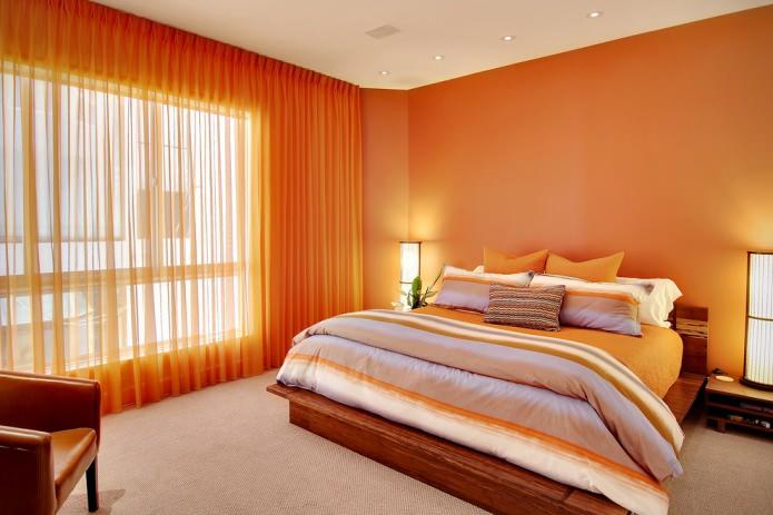 оранжевый тюль