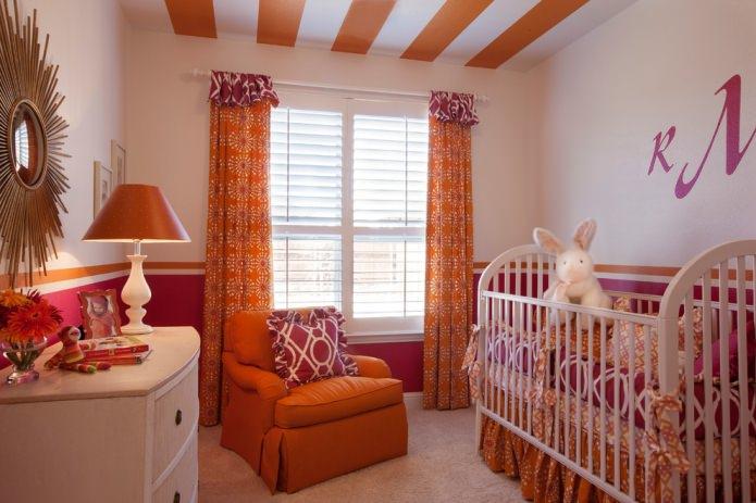 Оранжево-розовая детская