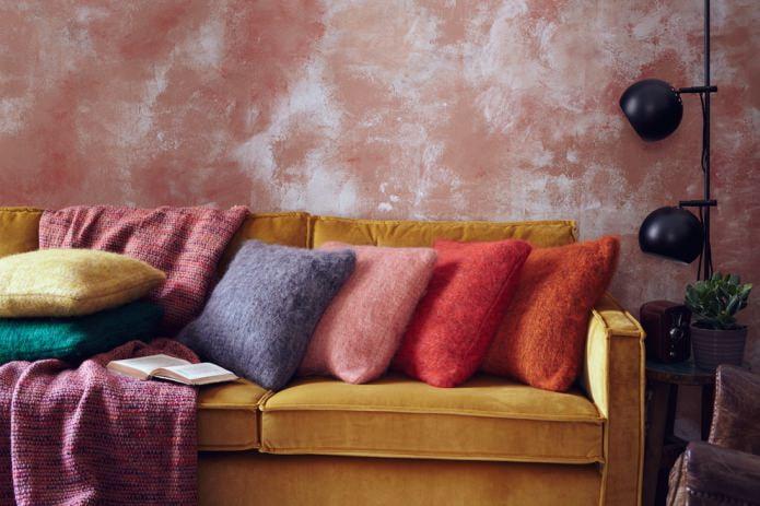 персиковый цвет стен