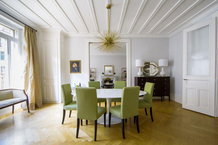 оливковые стулья