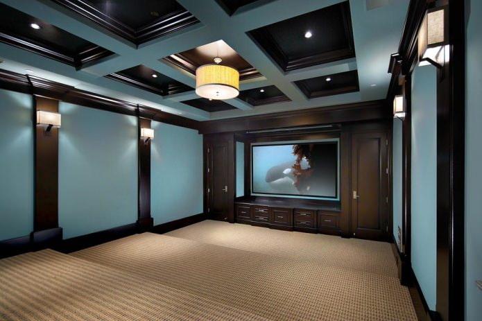 Черно-синий потолок
