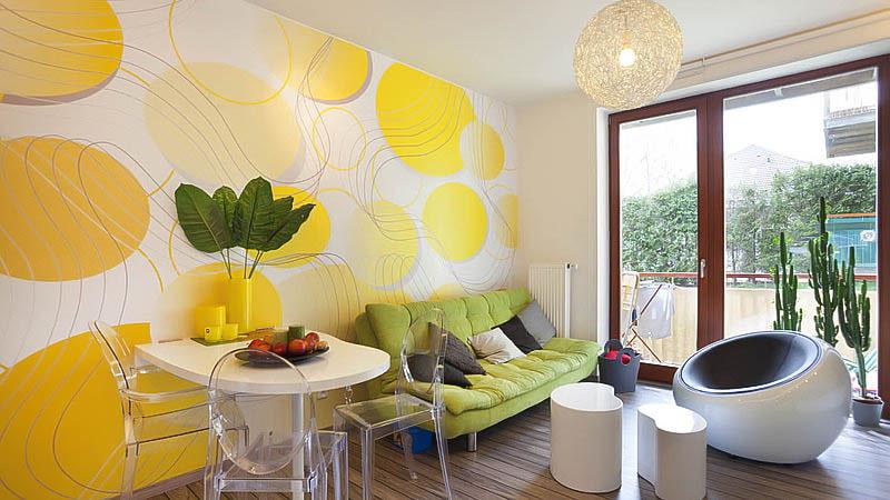 есть, фото кухни комнаты дизайн с яркими обоями вам несколько
