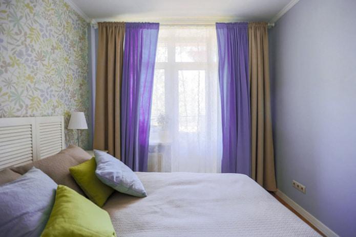 Фиолетово-коричневые шторы
