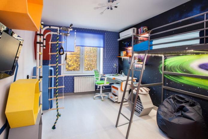 детская комната с космической тематикой