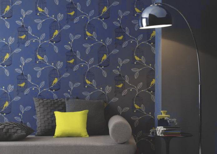 Желто-синие обои