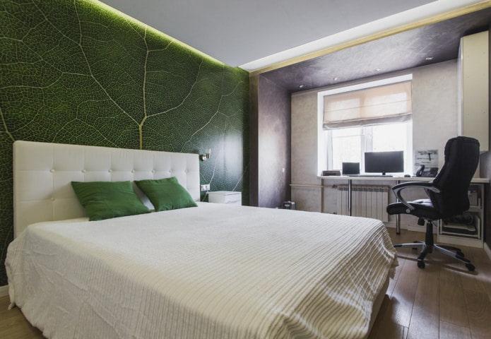 Фотообои насыщенного зеленого цвета