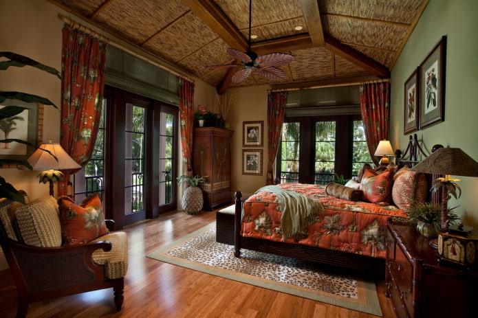 бамбуковый потолок
