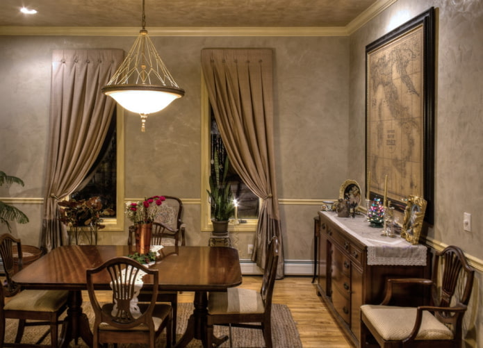 классический дизайн столовой