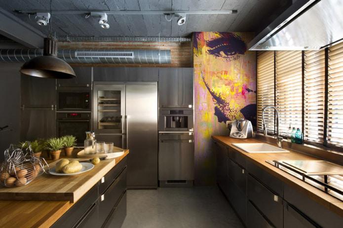 фотообои в кухне