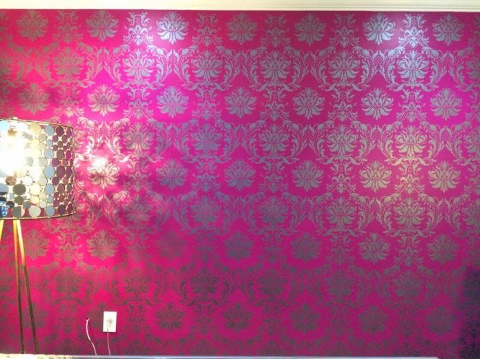 Обои с шелкографией: виды, 50 фото в интерьере, цвет, идеи дизайна, как клеить