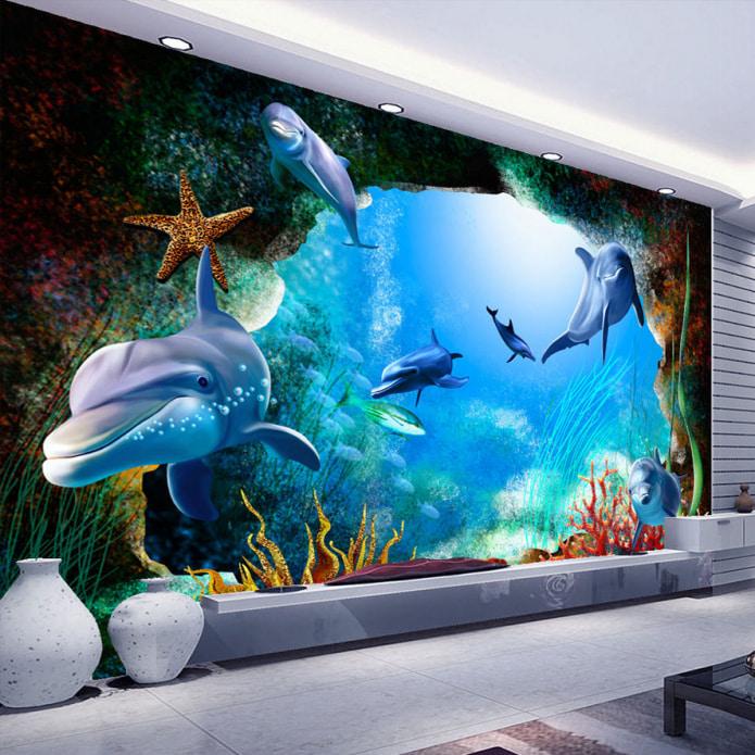 подводный мир на обоях
