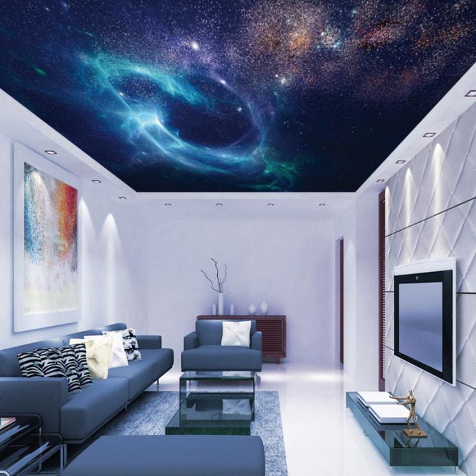 изображение галактике на потолке