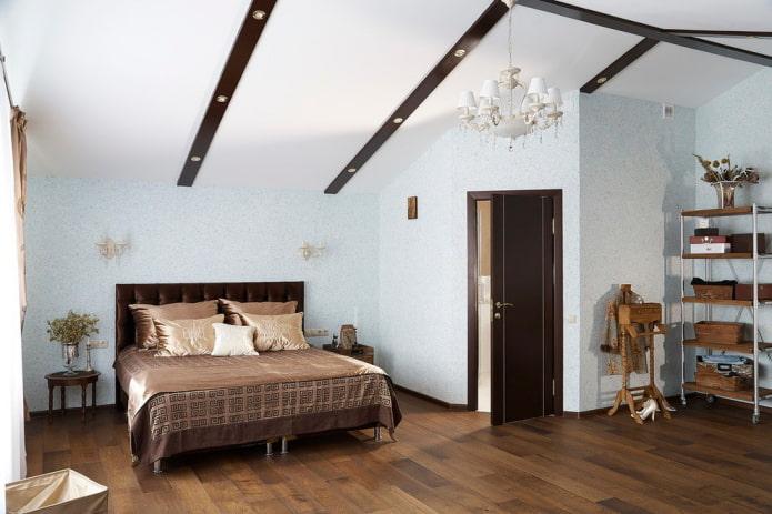 спальня с жидкими обоями