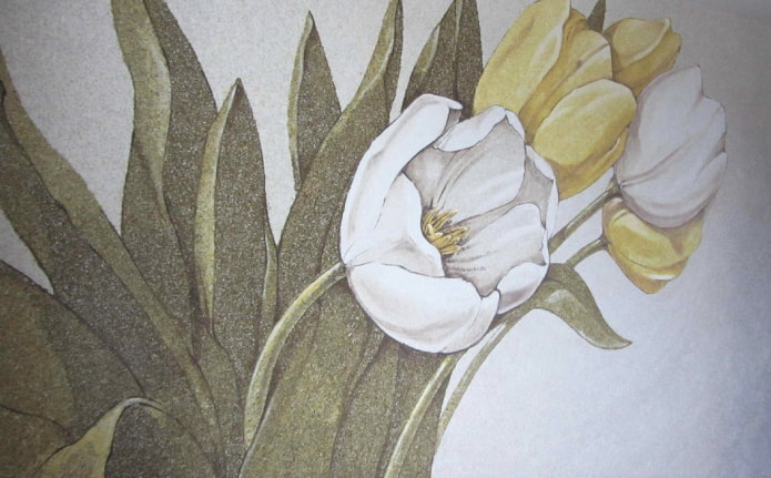 рисунок на тюльпанах