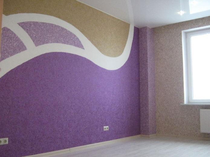 рисунок волн на стене