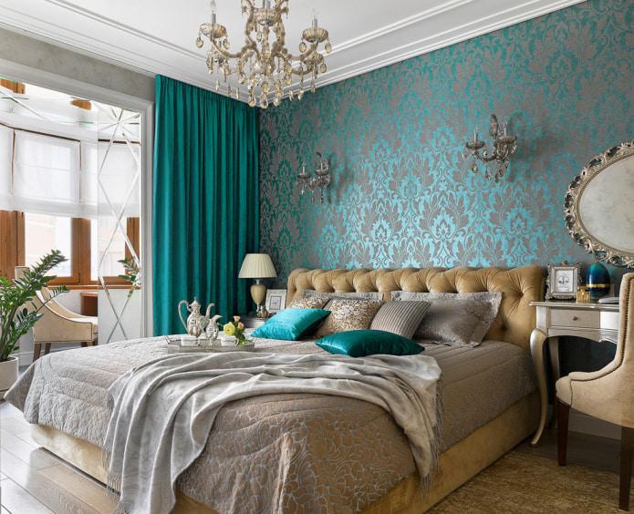 дамаские узоры в спальне